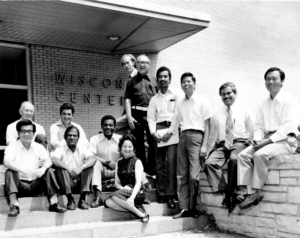 group of international visitors to UWCC in 1972
