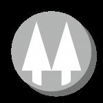 Twin pines grey logo
