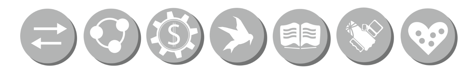 icons representing the seven cooperative principles