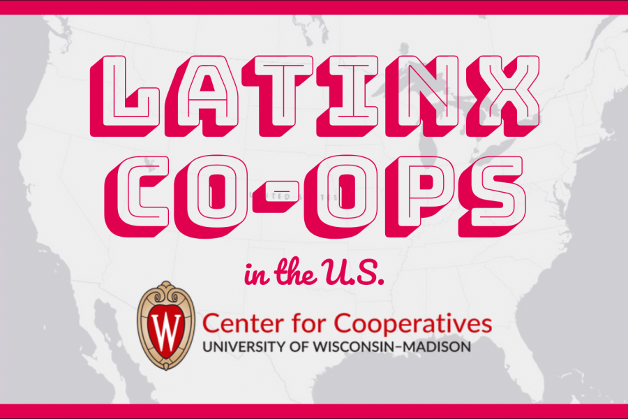 map of United States with Latinx Co-ops written on top