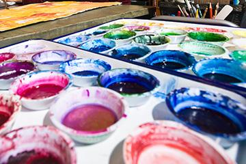 Photo of watercolor paints