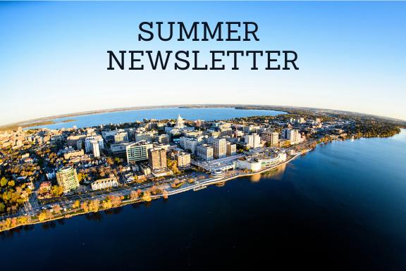 Summer newsletter over madison skyline