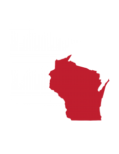 Graphic of the state of Minnesota and Wisconsin