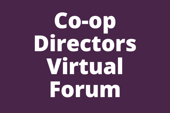 Co-op Directors Virtual Forum