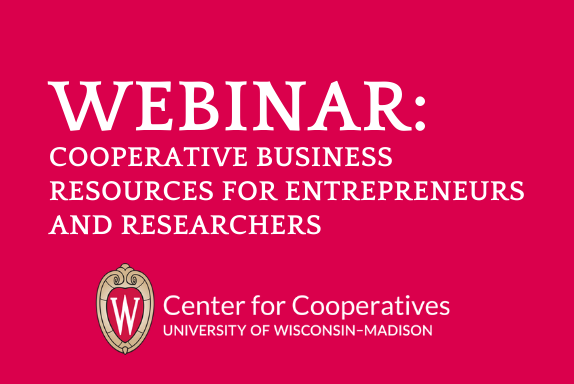 webinar coop business resources for entrprenuers and researchers