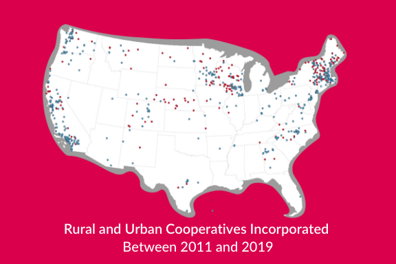 New Co-ops Map 2011 - 2019